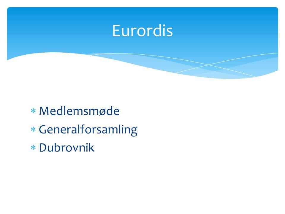 Eurordis Medlemsmøde Generalforsamling Dubrovnik