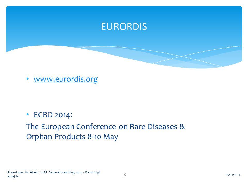 EURORDIS www.eurordis.org ECRD 2014: