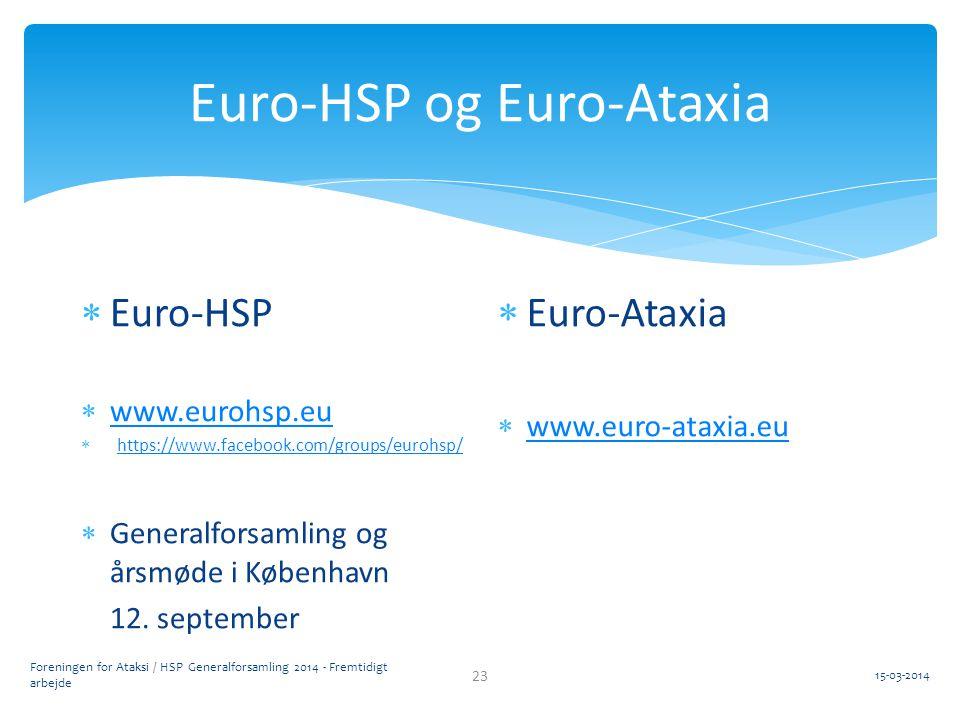 Euro-HSP og Euro-Ataxia