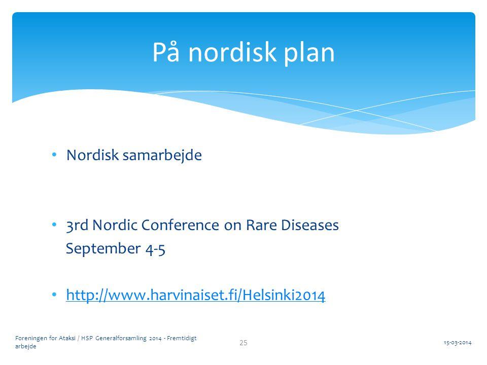 På nordisk plan Nordisk samarbejde