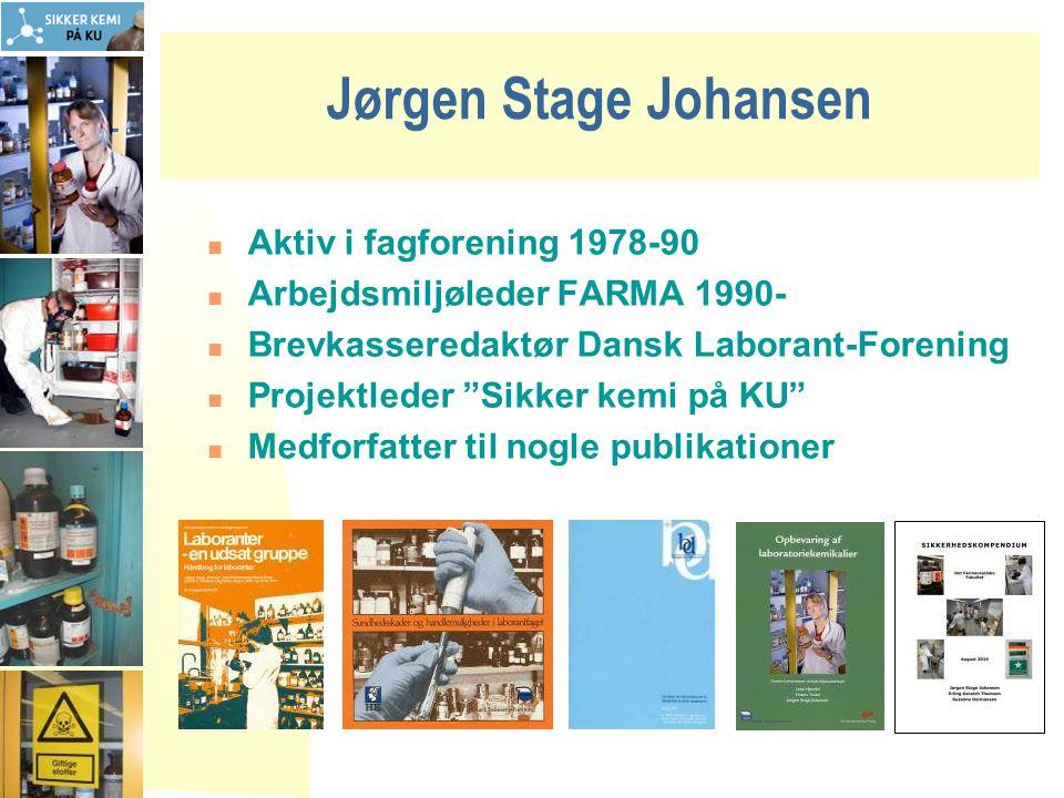 Jørgen Stage Johansen Aktiv i fagforening 1978-90