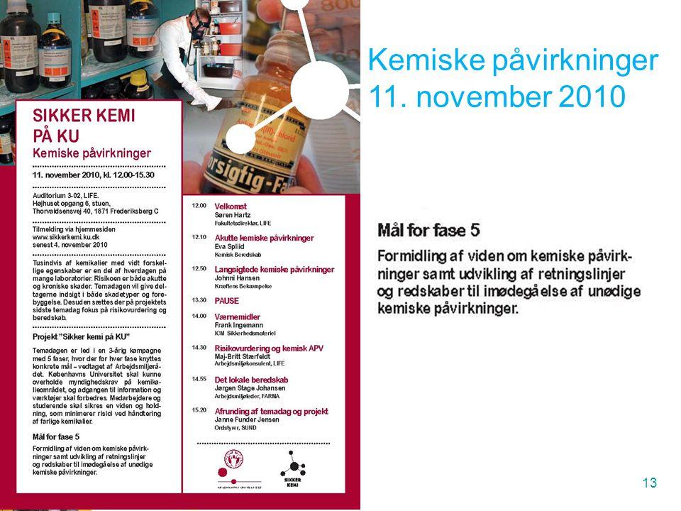 Kemiske påvirkninger 11. november 2010