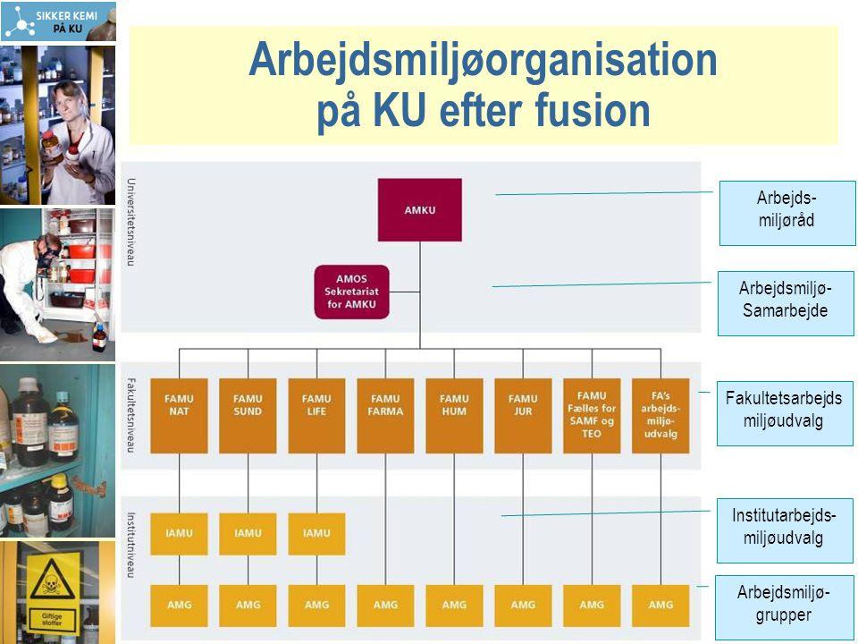 Arbejdsmiljøorganisation på KU efter fusion