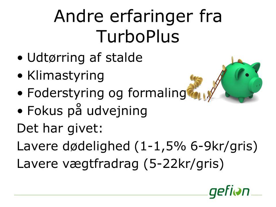 Andre erfaringer fra TurboPlus