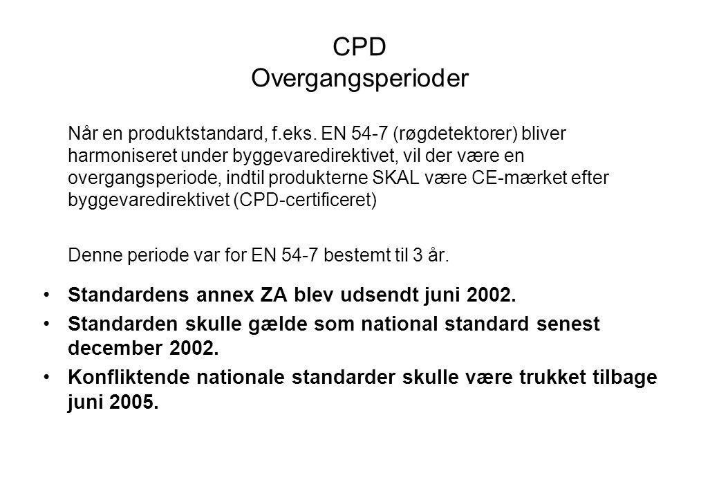 CPD Overgangsperioder