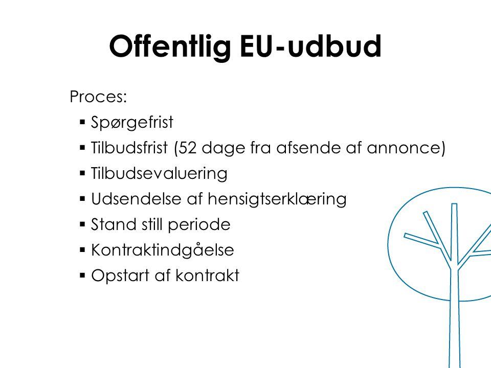 Offentlig EU-udbud Proces: Spørgefrist