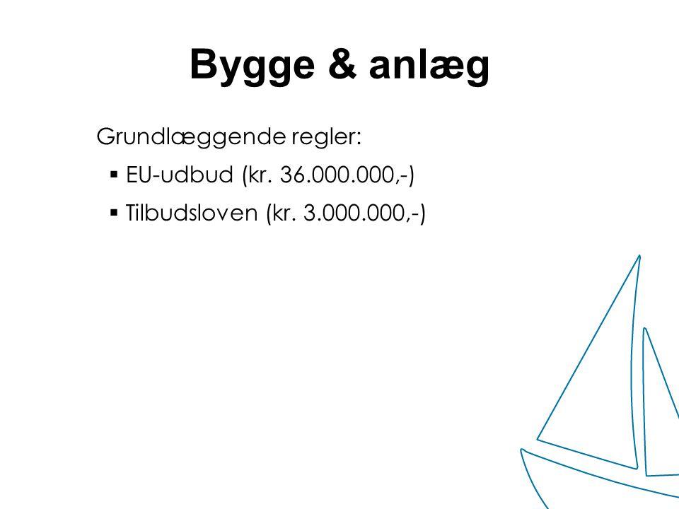 Bygge & anlæg Grundlæggende regler: EU-udbud (kr. 36.000.000,-)