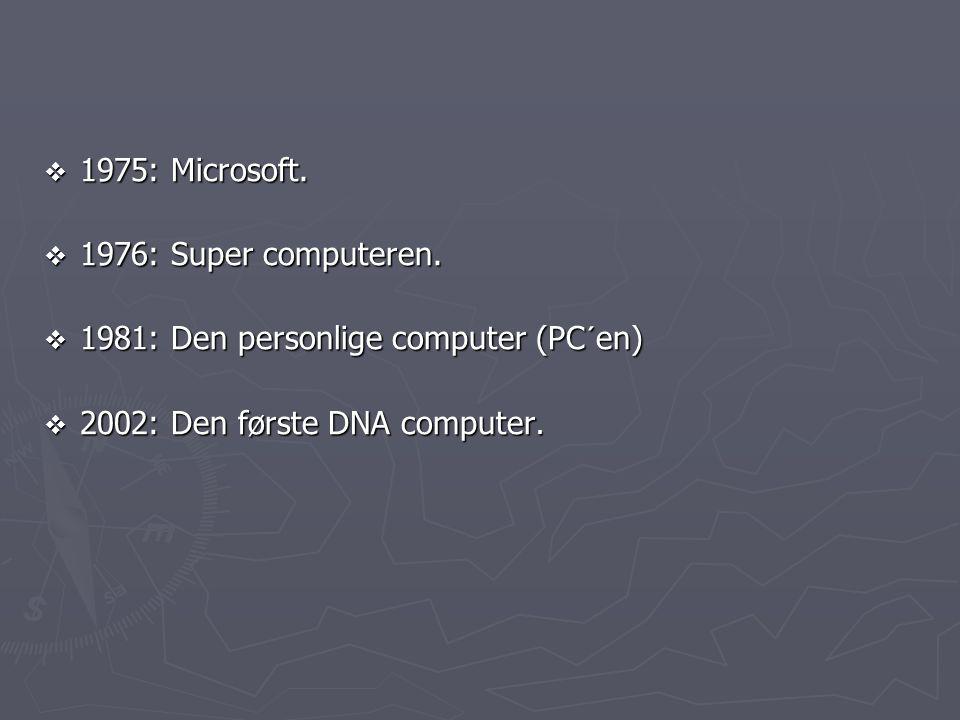 1975: Microsoft. 1976: Super computeren.