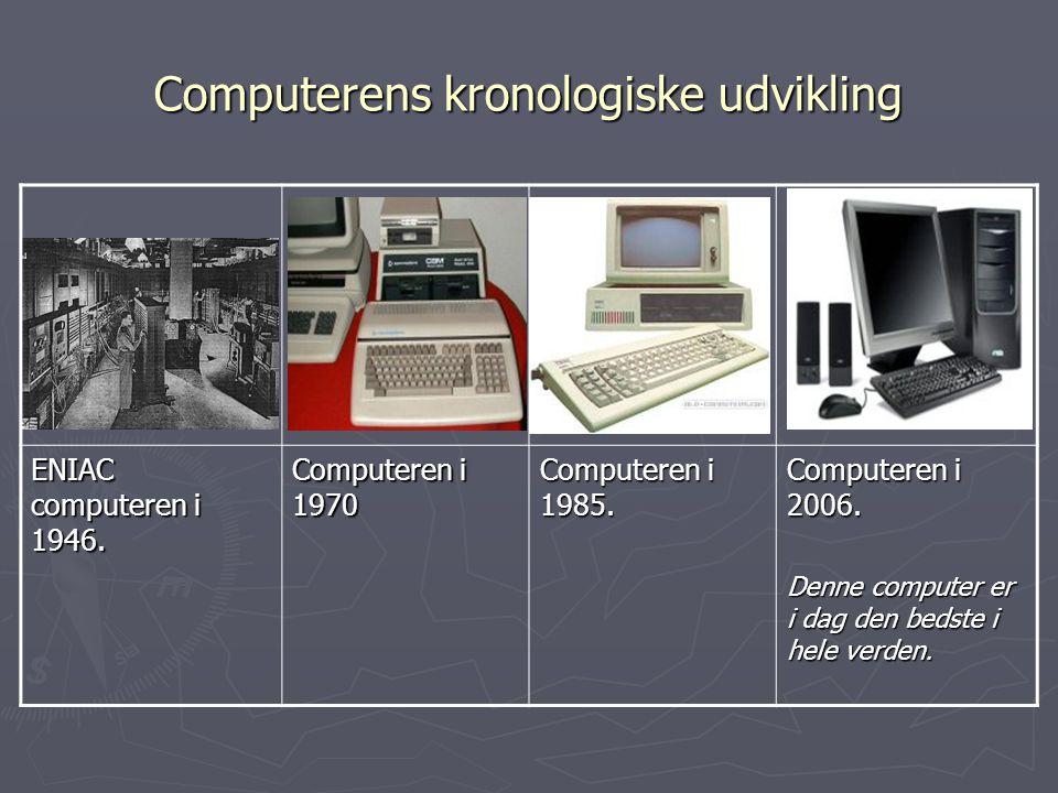 Computerens kronologiske udvikling