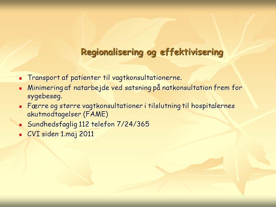 Regionalisering og effektivisering