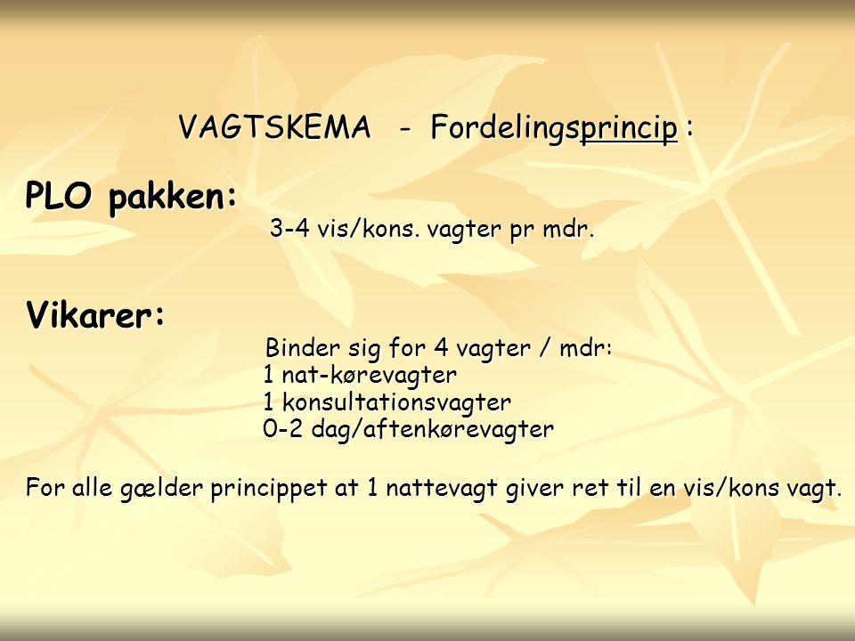 VAGTSKEMA - Fordelingsprincip :