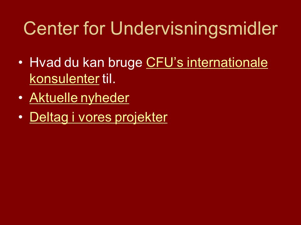 Center for Undervisningsmidler