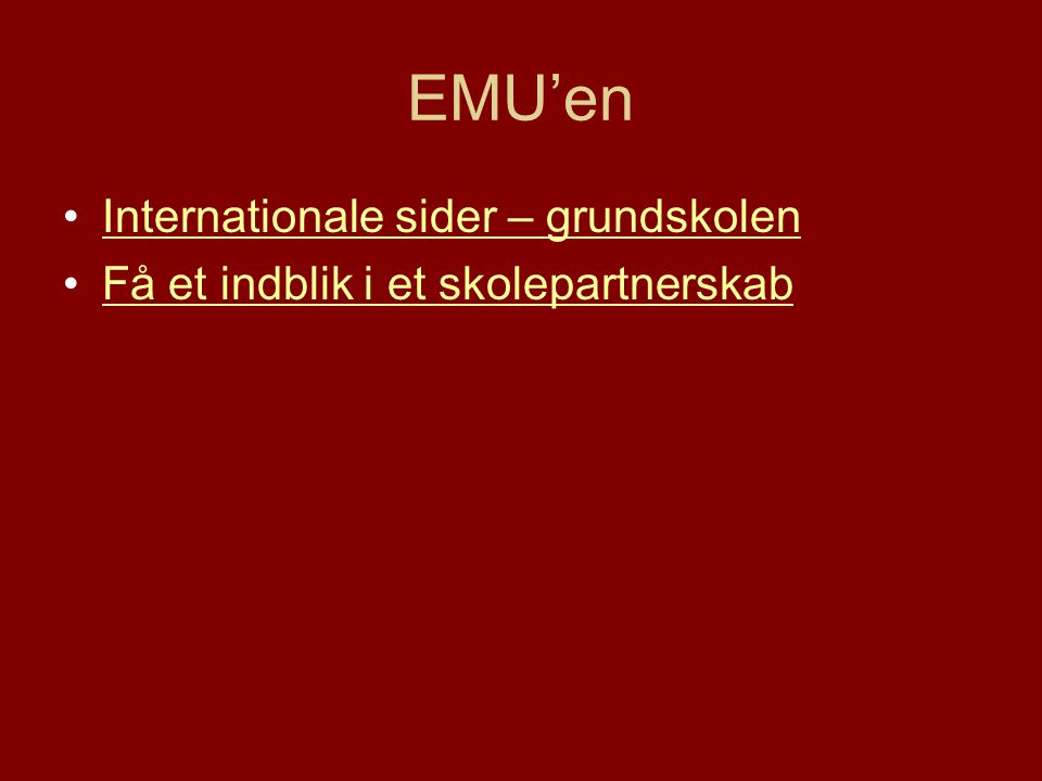 EMU'en Internationale sider – grundskolen