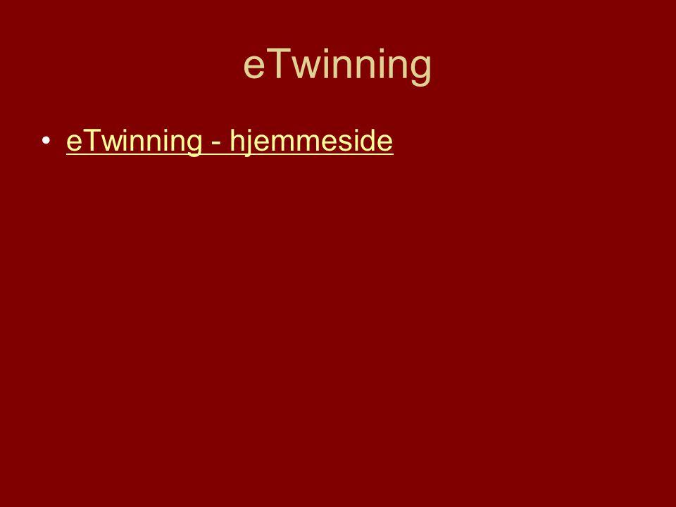 eTwinning eTwinning - hjemmeside