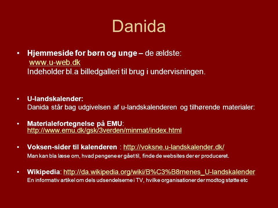 Danida Hjemmeside for børn og unge – de ældste: www.u-web.dk