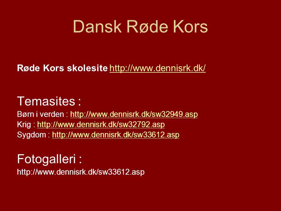 Dansk Røde Kors Temasites : Fotogalleri :