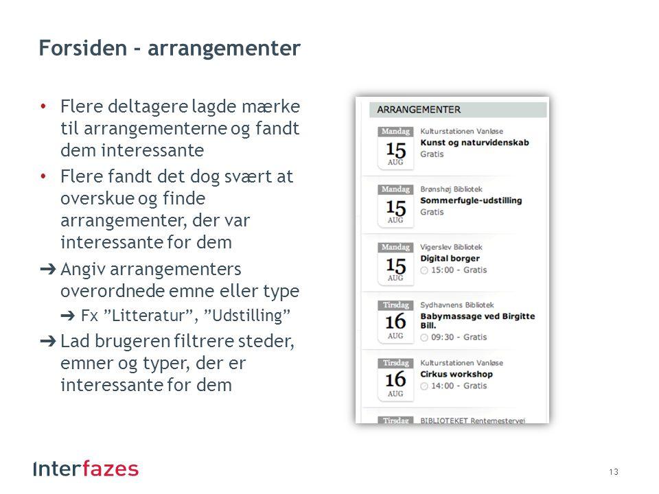 Forsiden - arrangementer