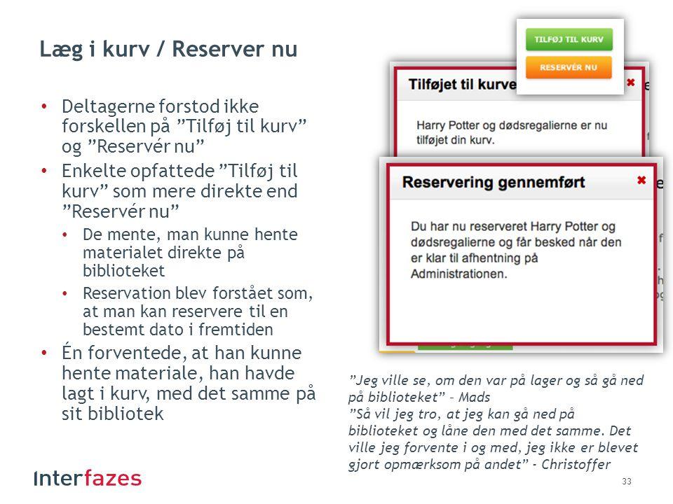 Læg i kurv / Reserver nu Deltagerne forstod ikke forskellen på Tilføj til kurv og Reservér nu
