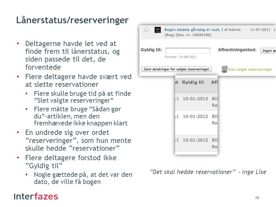 Lånerstatus/reserveringer