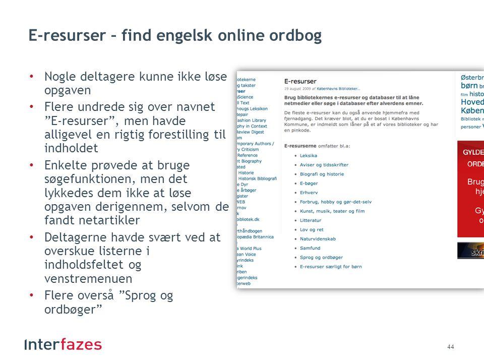E-resurser – find engelsk online ordbog