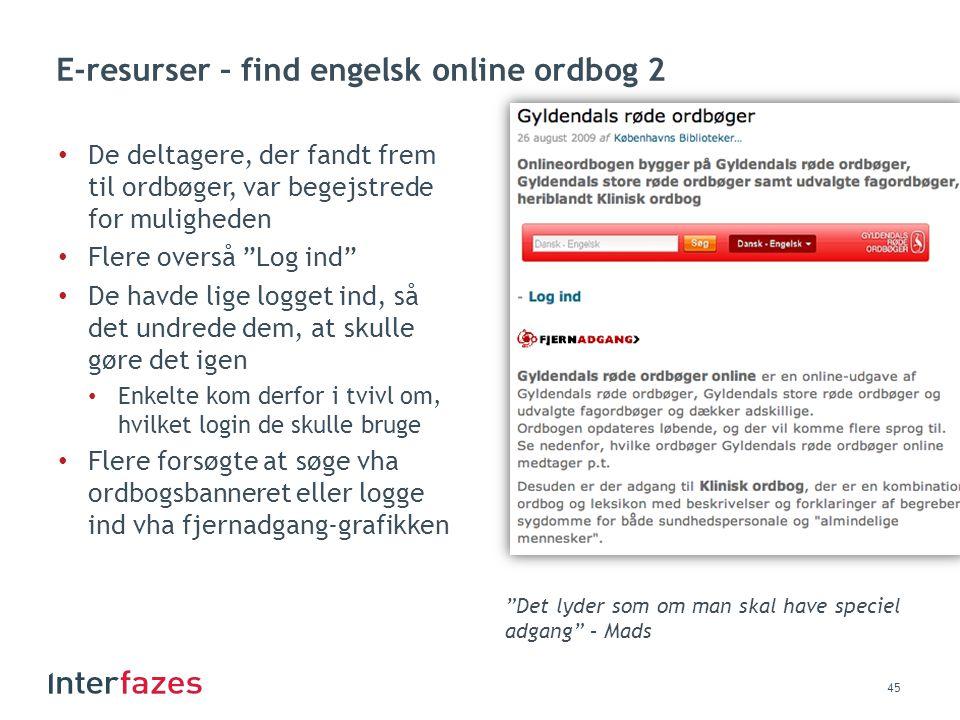E-resurser – find engelsk online ordbog 2