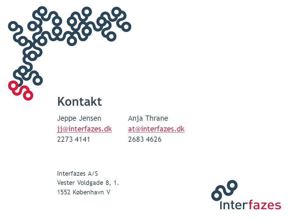 Kontakt Jeppe Jensen Anja Thrane jj@interfazes.dk at@interfazes.dk
