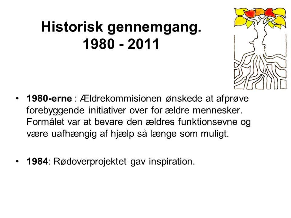 Historisk gennemgang. 1980 - 2011