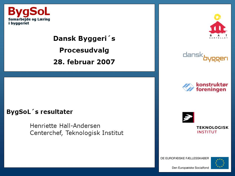 Dansk Byggeri´s Procesudvalg 28. februar 2007