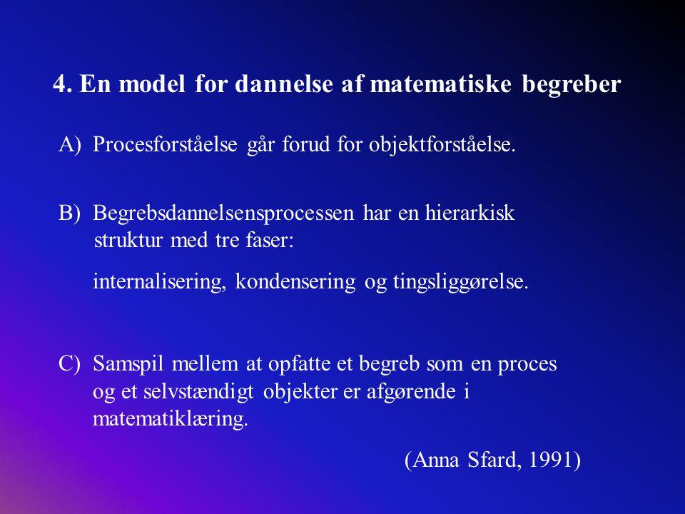 4. En model for dannelse af matematiske begreber