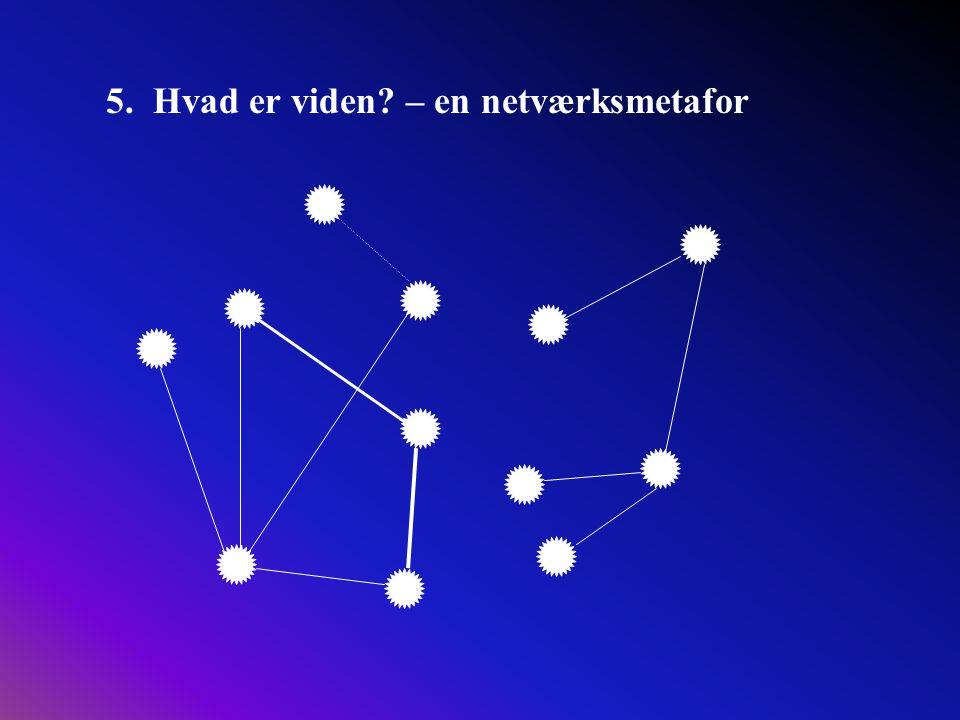 5. Hvad er viden – en netværksmetafor