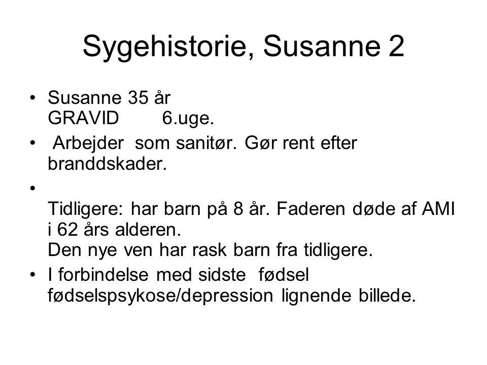 Sygehistorie, Susanne 2 Susanne 35 år GRAVID 6.uge.