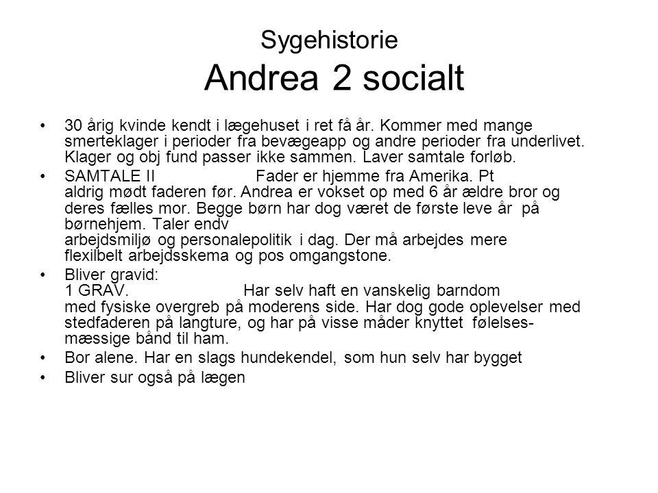 Sygehistorie Andrea 2 socialt