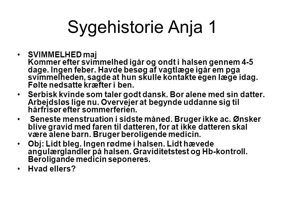 Sygehistorie Anja 1