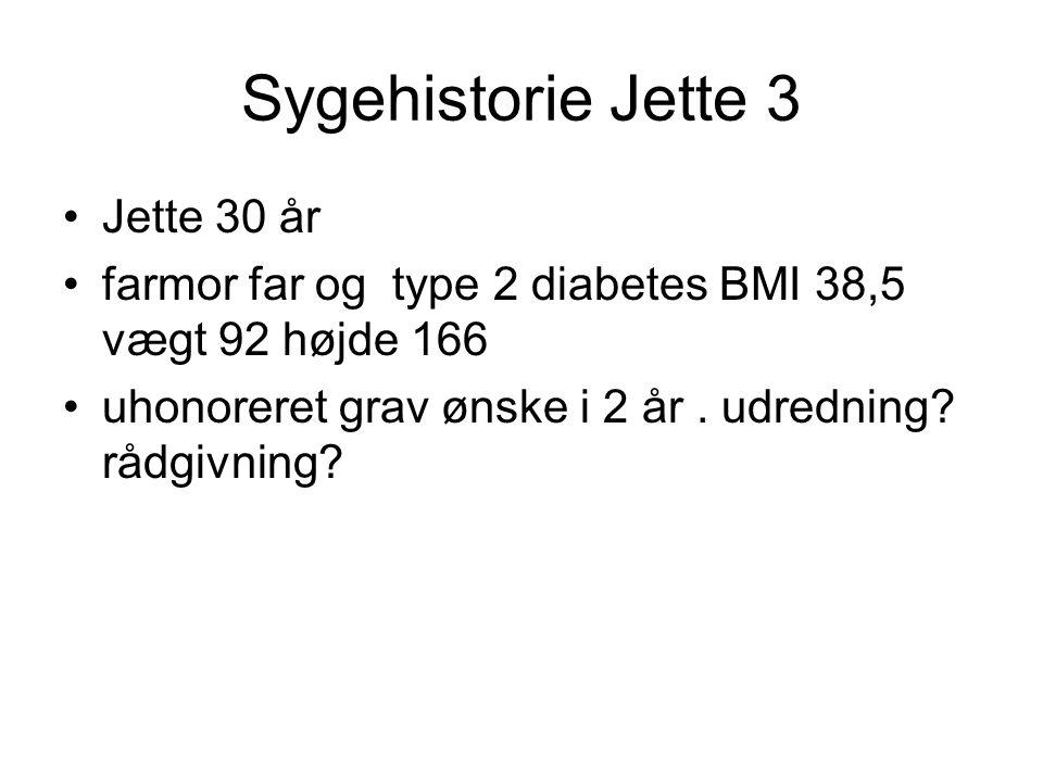 Sygehistorie Jette 3 Jette 30 år