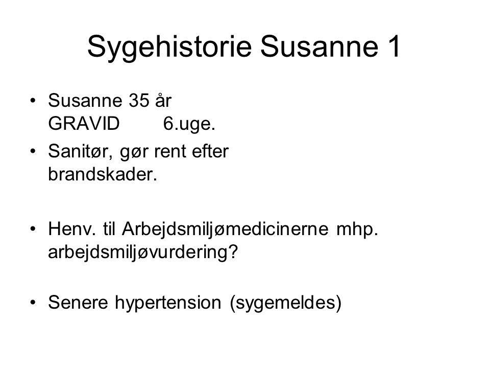 Sygehistorie Susanne 1 Susanne 35 år GRAVID 6.uge.