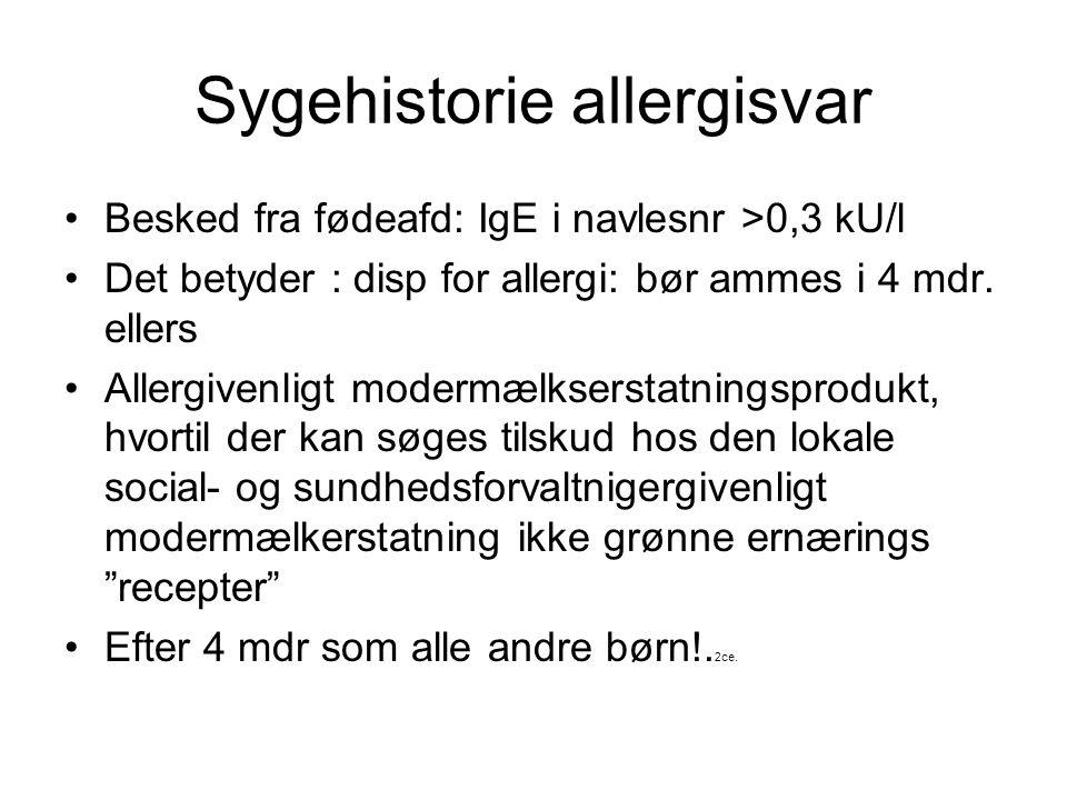 Sygehistorie allergisvar