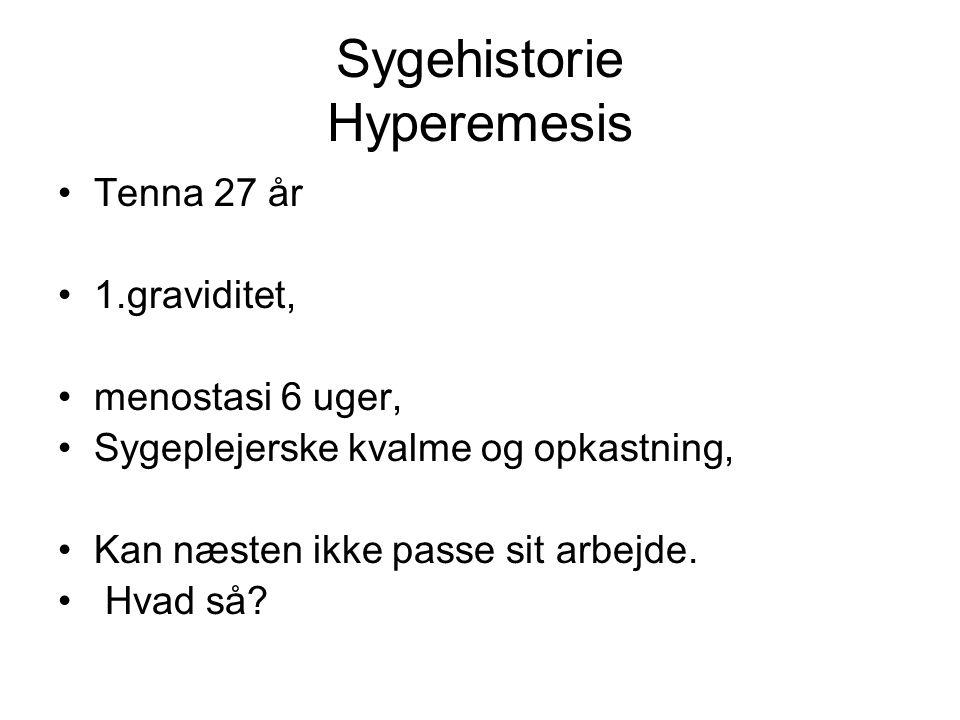 Sygehistorie Hyperemesis