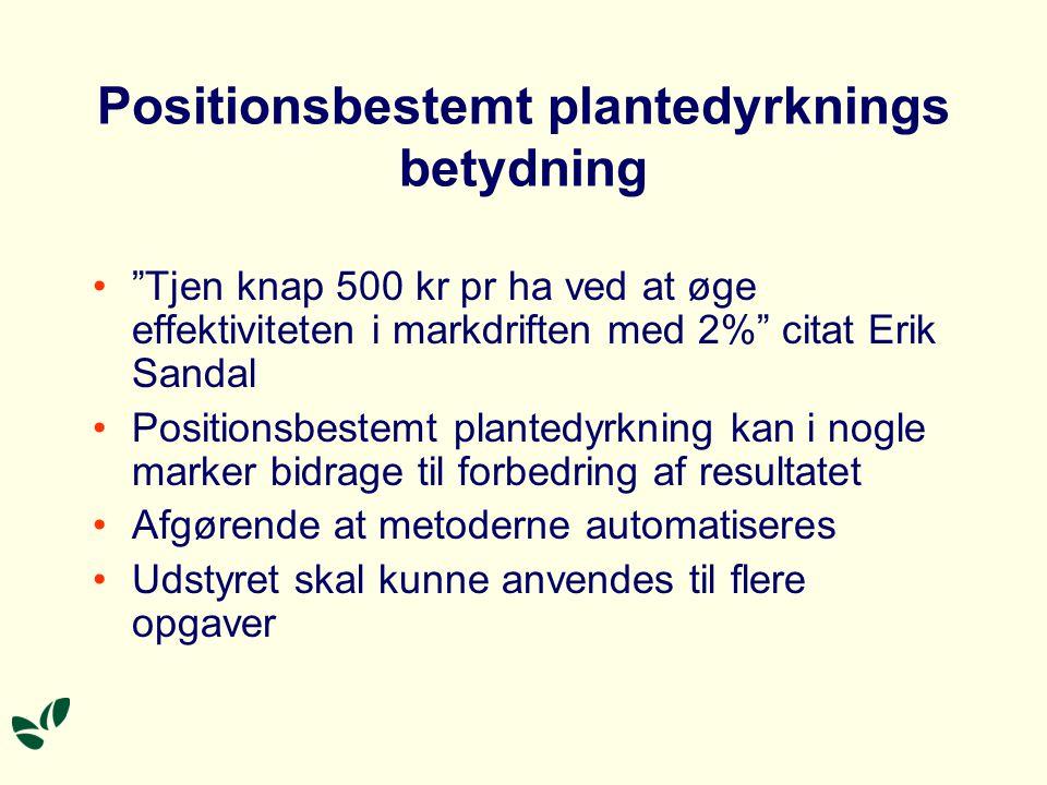 Positionsbestemt plantedyrknings betydning