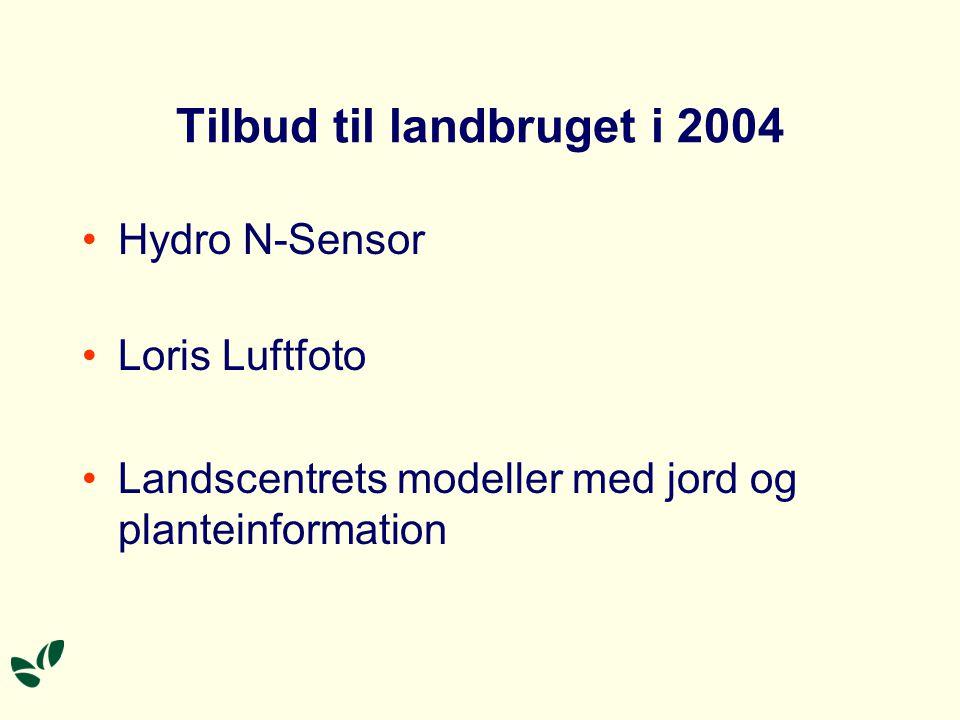 Tilbud til landbruget i 2004