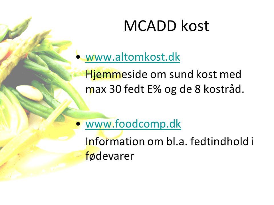 MCADD kost www.altomkost.dk