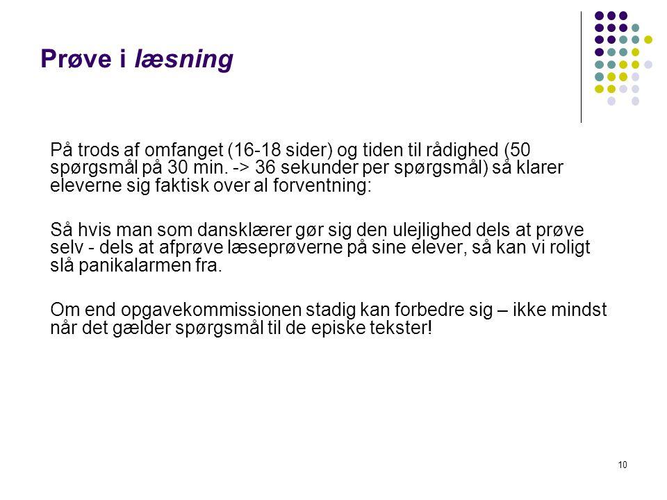 Prøve i læsning