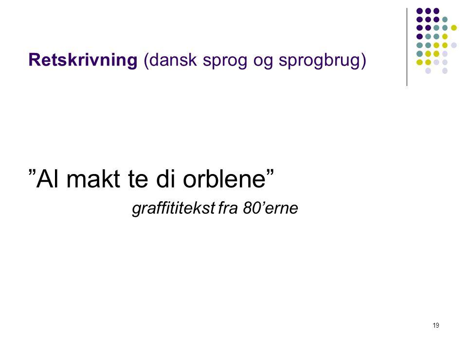 Retskrivning (dansk sprog og sprogbrug)