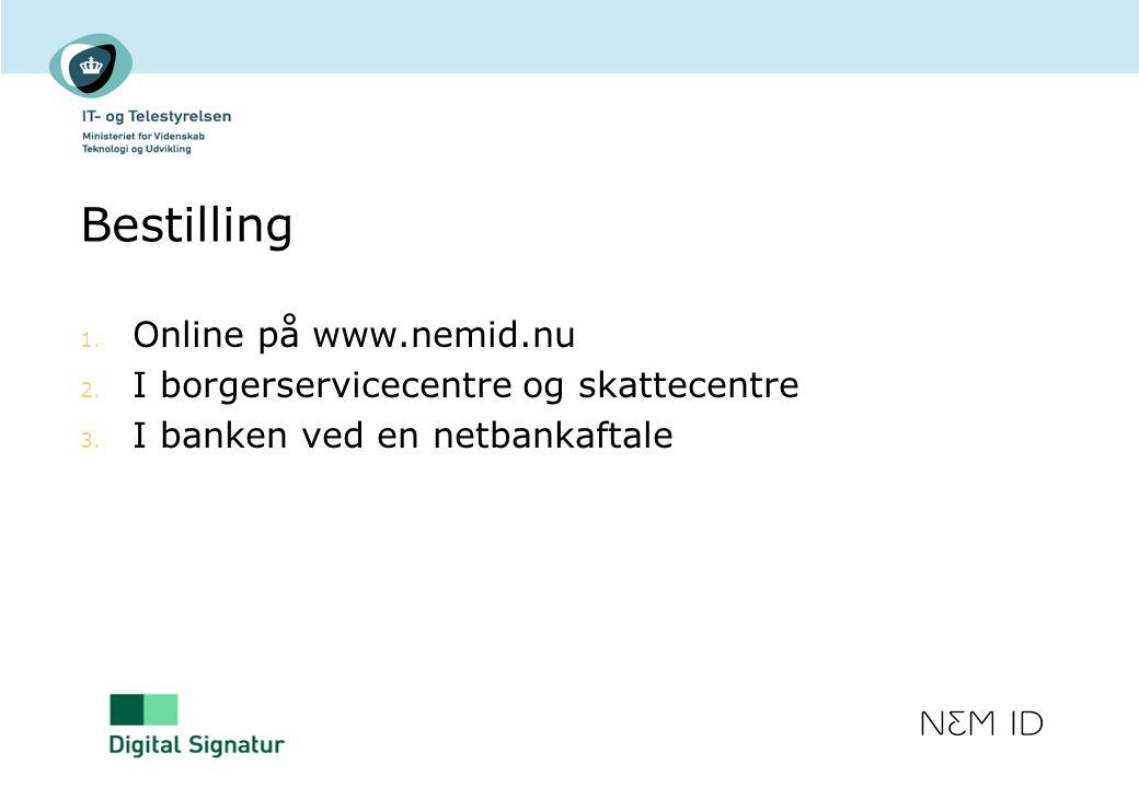 Bestilling Online på www.nemid.nu