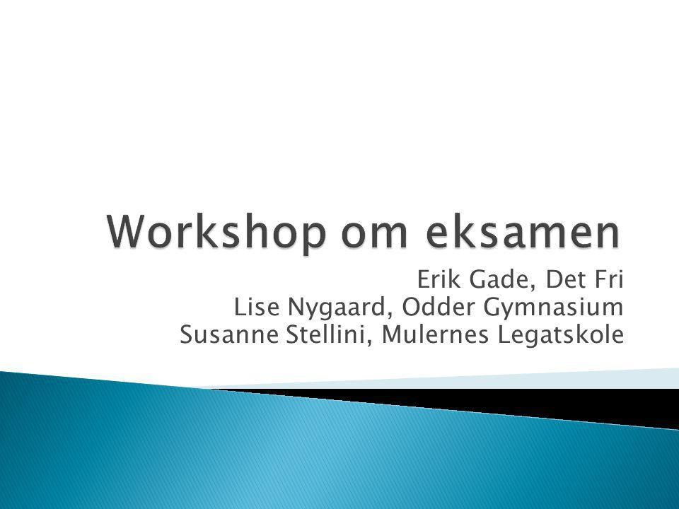 Workshop om eksamen Erik Gade, Det Fri Lise Nygaard, Odder Gymnasium
