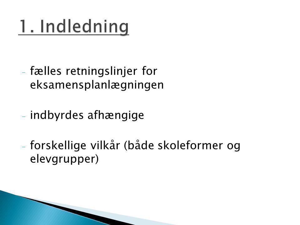 1. Indledning fælles retningslinjer for eksamensplanlægningen