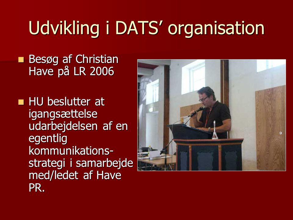 Udvikling i DATS' organisation
