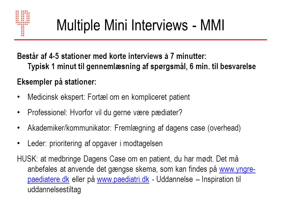 Multiple Mini Interviews - MMI