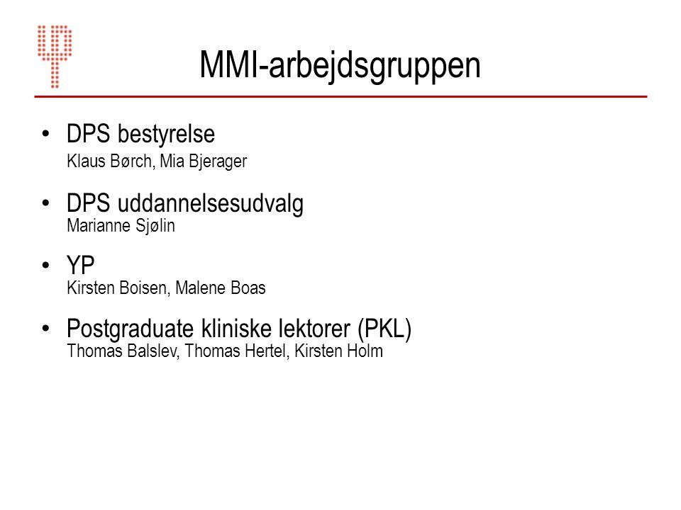 MMI-arbejdsgruppen DPS bestyrelse Klaus Børch, Mia Bjerager