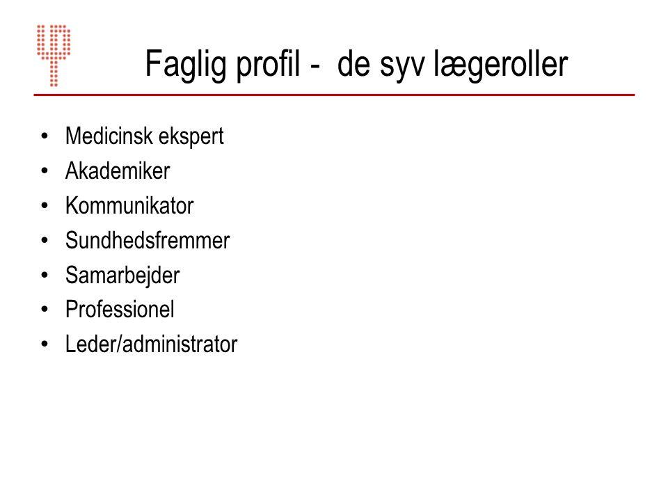Faglig profil - de syv lægeroller
