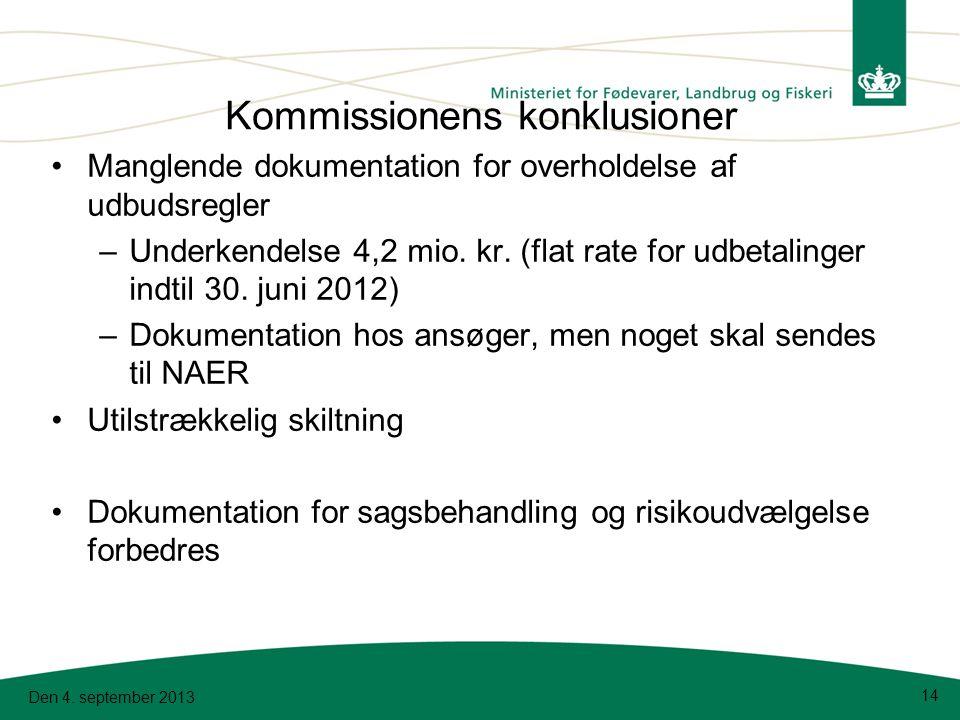 Kommissionens konklusioner